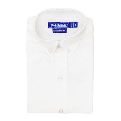 J Bailey White Button Down Oxford Shirt