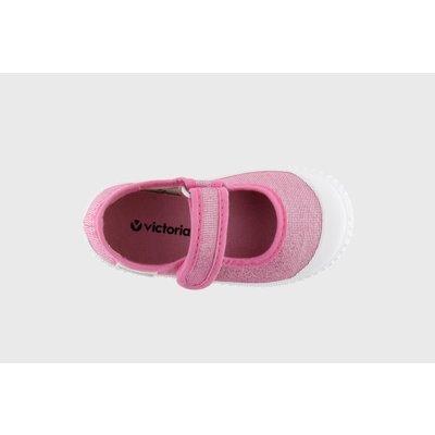 Victoria Rosa Metallic Velcro Maryjane