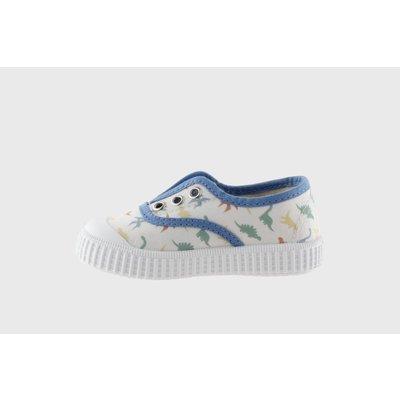 Victoria Dino Printed Canvas Slip-On Shoe