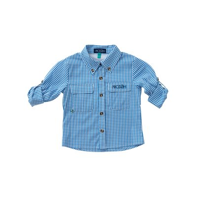 Prodoh Diving Hole Gingham Vented Back Fishing Shirt