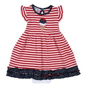 Magnolia Baby 4th of July Ice Cream Applique Flutters Dress