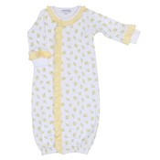 Magnolia Baby Faith's Classics Printed Ruffle Convertible Gown