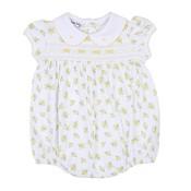 Magnolia Baby Faith's Classics Smocked Printed Collar Bubble