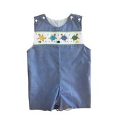 Lulu Bebe LLC Turtle Smocked Shortall