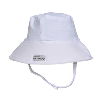 Flap Happy White Fun in the Sun Hat UPF