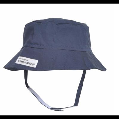 Flap Happy Navy UPF 50 Bucket Hat
