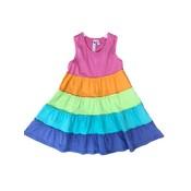 Globaltex Rainbow Tier Racer Back Twirl Dress