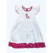 Magnolia Baby Flamingo Applique Flutters Dress Set