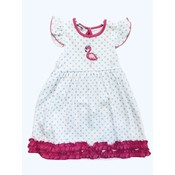 Magnolia Baby Flamingo Applique Flutters Toddler Dress