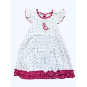 Magnolia Baby Flamingo Applique Flutters Toddler Dress