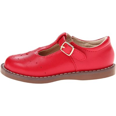 Footmates Sherry Tstrap Apple Red Maryjane