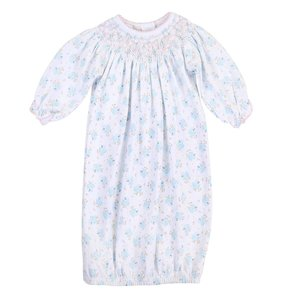 Magnolia Baby Vintage Blue Bird Bishop Printed Gown