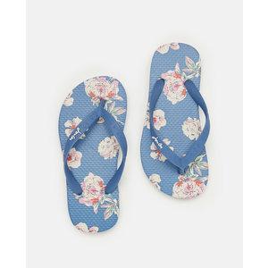 Joules Blue Floral Flip Flops