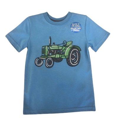 Globaltex Cross Dye Blue Tractor Jersey Tee