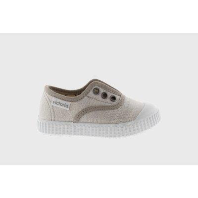 Victoria No Lace Beige Sparkle Sneaker