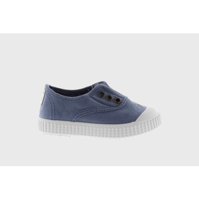 Victoria No Lace Azul Sneaker (Blue)