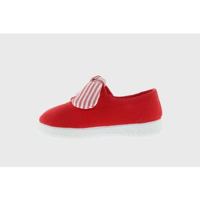 Victoria Bow Red Maryjane Sneaker