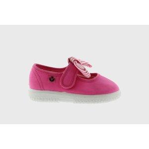 Victoria Bow Fucshia Maryjane Sneaker