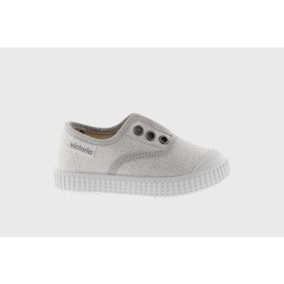 Victoria No Lace Silver Sparkle Sneaker