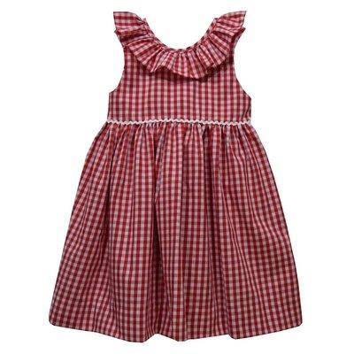 Vive La Fete Red Medium Check Ruffle Dress
