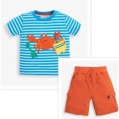JoJo Maman Bebe Crab Applique T-shirt/Short Set