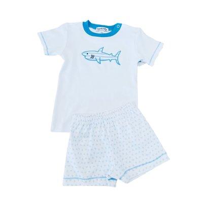 Magnolia Baby Shark Applique Short Set Light Blue