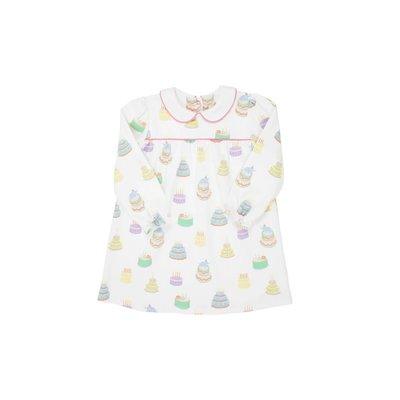 Beaufort Bonnet Company Piece of Cake/Hamptons Hot Pink Long Sleeve Holly Day Dress - Pima