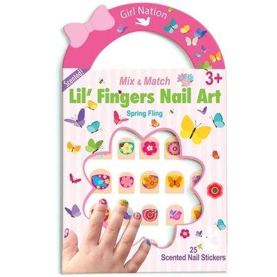 Girl Nation Lil' Fingers Nail Art- Spring Fling