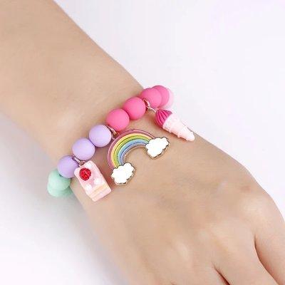 Girl Nation Charming Whimsy Bracelet- Cloud Luvs Rainbow