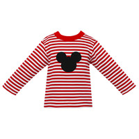 Claire & Charlie Mouse Stripe L/S Tee