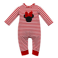 Claire & Charlie Mouse Stripe Girl Romper