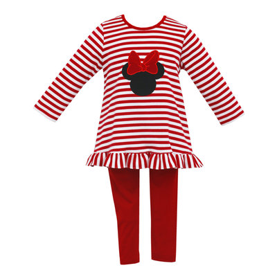Claire & Charlie Mouse Stripe Tunic Set