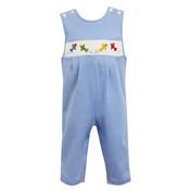 Petit Bebe Airplanes Royal Blue Knit Stripe Longall