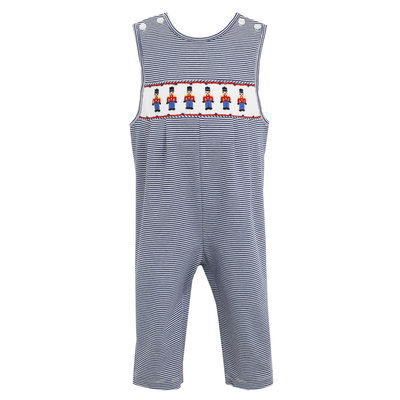 Petit Bebe Toy Soldier Navy Blue Knit Stripe Longall