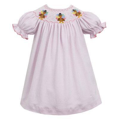 Petit Bebe Turkey Pink Knit Stripe Bishop