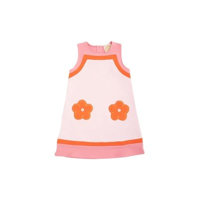 Beaufort Bonnet Company Palm Beach Pink/Tega Cay Ramsey Retro Jumper w/Flower Applique