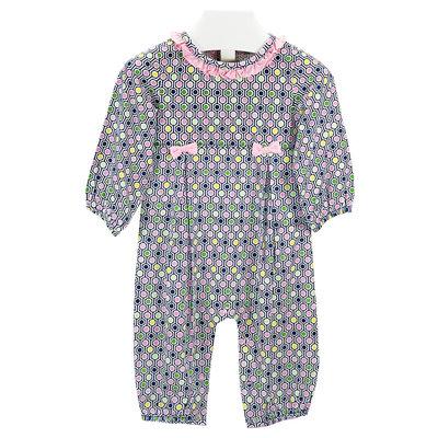 Ishtex Textile Products, Inc Honeycomb Girls Romper