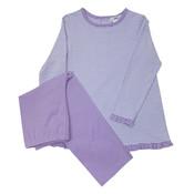 Ishtex Textile Products, Inc Lavender Stripe Girls Pant Set