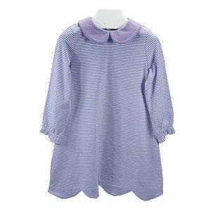 Ishtex Textile Products, Inc Lavender Stripe girls A-line Dress