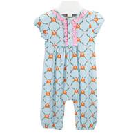Ishtex Textile Products, Inc Pumpkin S/S Girls Romper