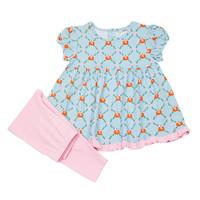 Ishtex Textile Products, Inc Pumpkin Leggings Set
