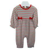 Ishtex Textile Products, Inc Candy Cane Stripe Girls Romper