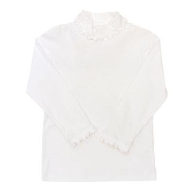 Bailey Boys White Knit Ruffle Turtleneck