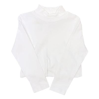 Bailey Boys White Knit Unisex Turtleneck