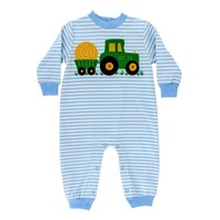 Bailey Boys Hay Tractor Knit Romper