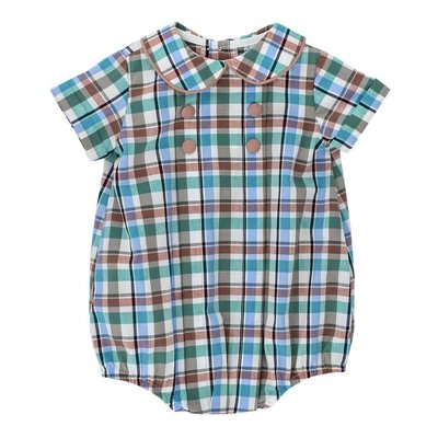 Bailey Boys Wood Duck Plaid Dressy Short Bubble