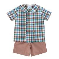 Bailey Boys Wood Duck Plaid Dressy Short Set