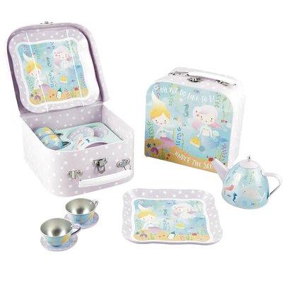 Floss and Rock Mermaid Tin Tea Set in Case