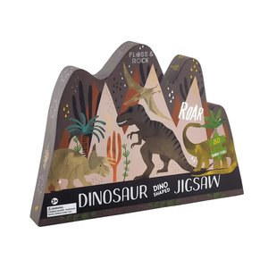 Floss and Rock Dino 80pc Jigsaw Puzzle