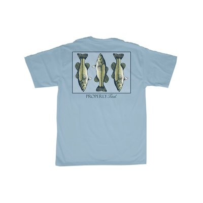 Properly Tied Triple Bass Powder Blue T-shirt